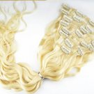 "100% Virgin Human Hair Clip in 20"" straight loose lave"