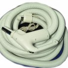 Central Vac Hose Assy 35ft Dual Switching Crushproof Gas Pump Handle Hose-Grey