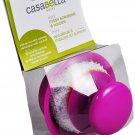 Casabella Mini Mesh Scrubber with Holder Plum