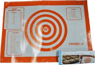 Casabella Baking N Pastry Mat Standard Silicone Orange 16in x 11.75in