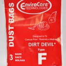 Royal Dirt Devil Type F Canister Vac Bags, 3 Pack