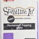 STABALIZE IT EMBROIDERY STABALIZER.  PERMANENT TOPPING PURPLE 1YD ADS-PT10