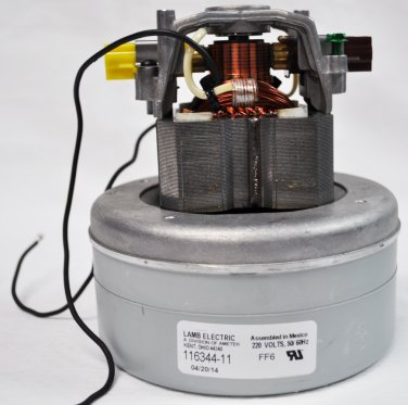 Ametek Lamb 5.7 Inch 240 Volt B/B 2 Stage Through-Flow Motor 116344-11
