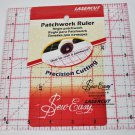 Sew Easy 6.5 Inch x 6.5 Inch Square Patchwork Quilt Ruler NL4177