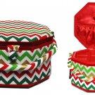 Suzy's Hobby Baskets Large Christmas Chevron Sewing Basket SB013