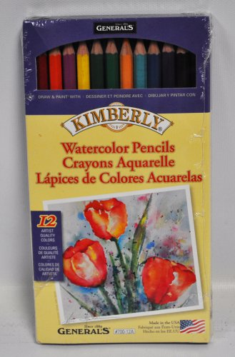 Kimberly Watercolor Pencil Set 12 Assorted Colors 700-12A