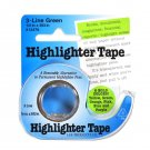 Removable Highlighter Tape 1/2in x 393in Green