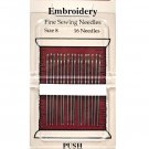 Piecemaker Embroidery Fine Sewing Needles Size 8