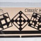 Classic Motifs 12 Inch Quilt Blocks Split Bottom Craft Holder