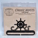 Classic Motifs 6 Inch Ships Wheel Craft Holder