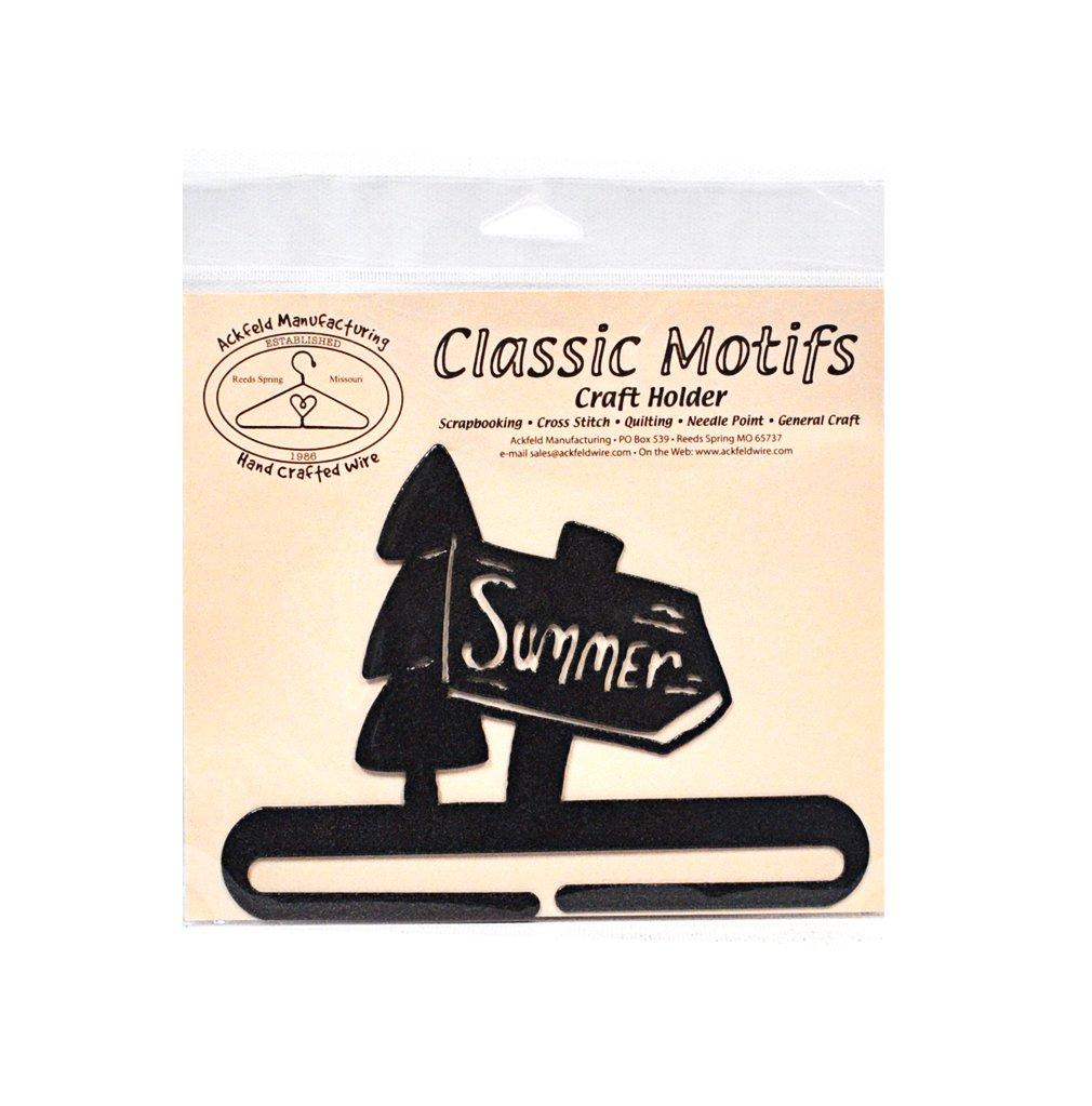 Classic Motifs Summer 6 Inch Charcoal Split Bottom Craft Holder