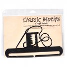 Classic Motifs Needle & Thread 8 Inch Charcoal Split Bottom Craft Holder