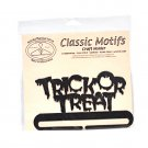 Classic Motifs Trick or Treat 6 Inch Charcoal Split Bottom Craft Holder