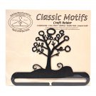 Classic Motifs Winter Tree 6 Inch Charcoal Split Bottom Craft Holder