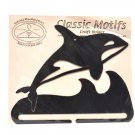 Classic Motifs Orca Whale 8 Inch Charcoal Split Bottom Craft Holder