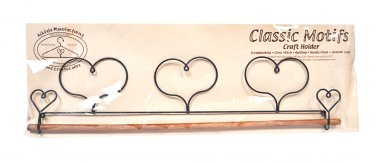 Classic Motifs Triple Heart 16 Inch Fabric Holder With Dowel