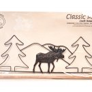 Classic Motifs Moose 16 Inch Fabric Holder With Dowel