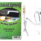 Ecoluxlighting 3 LED Complete Kit with USB Adapter