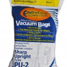 Sharp Upright Vacuum Cleaner Bags Style PU-2 86-2401-02