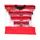 See Your Stuff The Clear Storage Bag Red