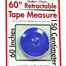 Quilter's Choice 60 inch Retractable Tape Measure Blue