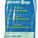 Riccar Simplicity 5000,6000 Vacuum Cleaner Type A Bags