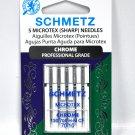 Schmetz Chrome Microtex Needle 5 ct, Size 70/10