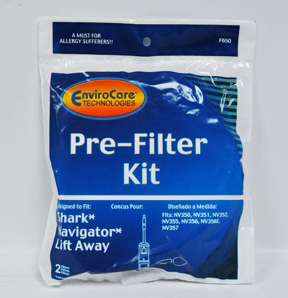Envirocare Shark Navigator Lift Away Pre-Filter Kit F650