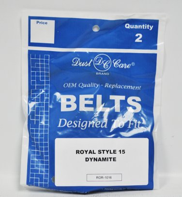 Dust Care Royal Style 15 Dynamite Replacement Vacuum Belts