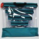 See Your Stuff The Clear Storage Bag Aqua