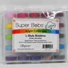 Super Bobs L-Style MasterPiece Cotton Prewound Bobbins Bright Colors Collection