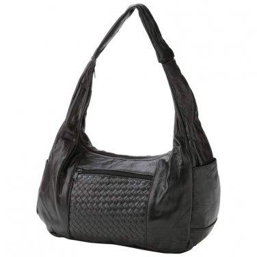 Ladies Black Purse/ Handbag / Embassy Genuine Lambskin Leather Purse - LUPURS1 - FREE SHIPPING!