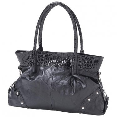 Womens Black Purse / Handbag / Embassy Lambskin Leather Purse - LUPU002 - FREE SHIPPING!