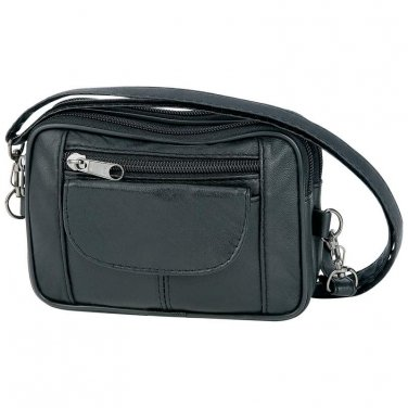 Leather Black Purse / Embassy Lambskin Leather Purse - LUPURS10 - FREE SHIPPING!
