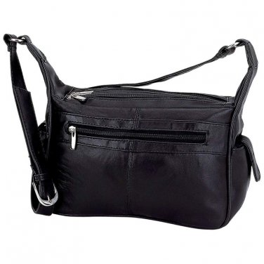 Ladies Black Purse / Handbag /Embassy Lambskin Leather Purse - LUPURSE101 - FREE SHIPPING!