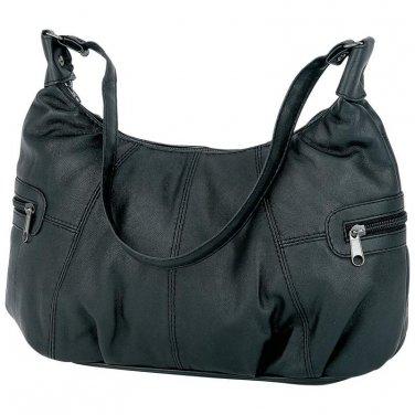 Womens Black Leather Purse / Embassy Lambskin Leather Purse - LUPURS9 - FREE SHIPPING!