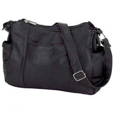Ladies Black Leather Purse / Embassy Lambskin Leather Purse - LUPURSE100 - FREE SHIPPING!