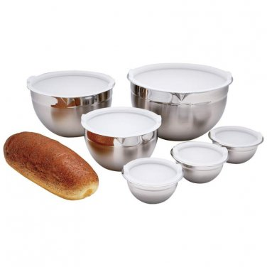stainless mixing bowls / 12pc T304 Stainless Steel Mixing Bowl Set - KTMX12 - FREE SHIPPING!