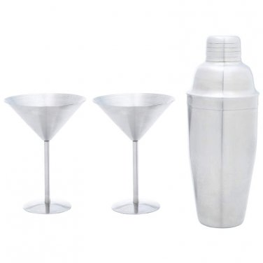 martini sets / Stainless Steel 3pc Martini Set- KTMART - FREE SHIPPING!