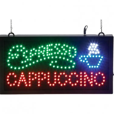 Mitaki-Japan� ESPRESSO, CAPPUCCINO with Cup Programmed LED Sign - ELMCAP - FREE SHIPPING!