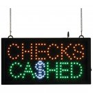 Mitaki-Japan™ CHECKS CASHED Programmed LED Sign - ELMCHK - FREE SHIPPING!