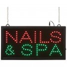 Mitaki-Japan™ NAILS & SPA Programmed LED Sign - ELMNSP - FREE SHIPPING!