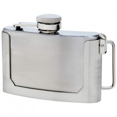 stainless steel flask / Maxam® 3oz Stainless Steel Belt Buckle Flask - KTFLASKBKL3 - FREE SHIPPING!
