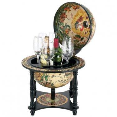 "Kassel� 13"" Diameter Italian Replica Globe Bar - HHGLBL330 - FREE SHIPPING!"