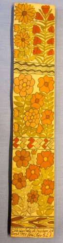 """Panel painting - Flowers -16x3"""""""