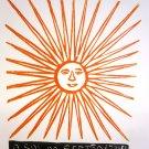"Woodblock print - The Sun of the Northeast- 13x19"""