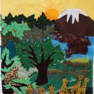 "Peruvian Wall Hanging- Africa - Cuadro - ""Africa"" 10""x34"""
