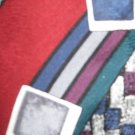 Oscar de la Renta silk geometric pattern necktie