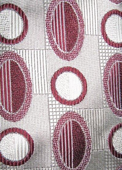 Surrey burgundy on silver gray polyester dress necktie