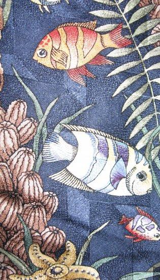 Tango by Max Raab silk tie tropical fish pattern
